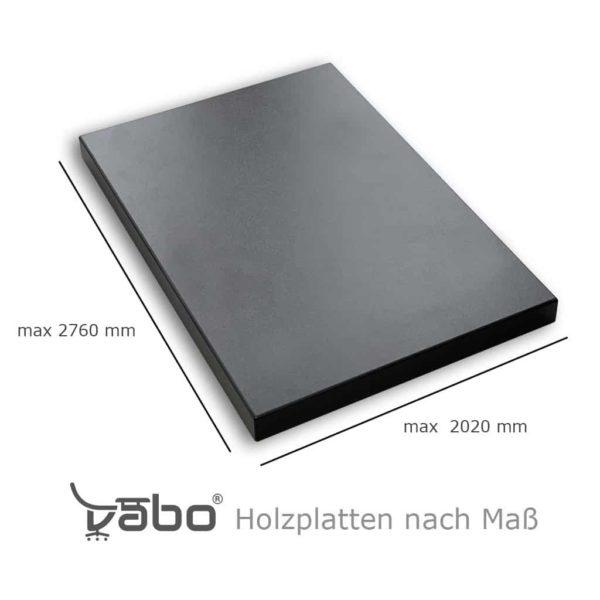 holzplatte nach maß graphit maße