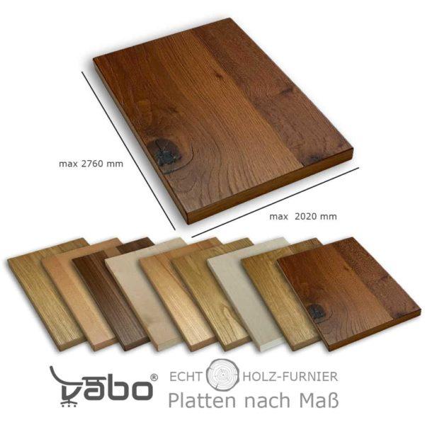 Echtholzplatte nach Maß