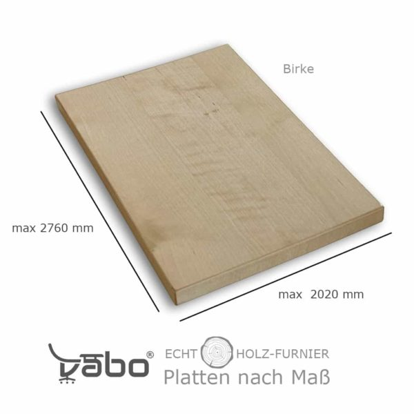 echtholz platte maß birke