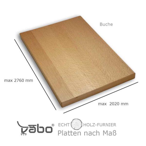 echtholz platte maß buche