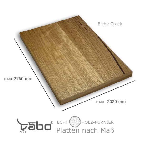 echtholz platte maß eiche crack