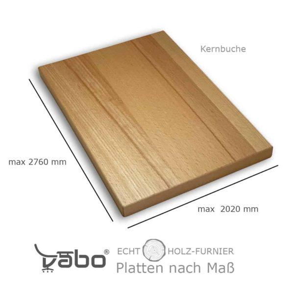 echtholz platte maß kernbuche